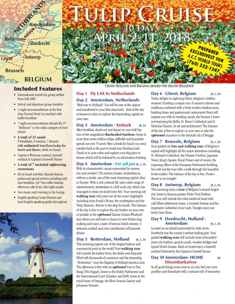 Tulip Cruise Flyer Page 1