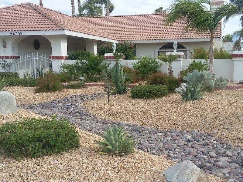 Desert landscape conversion